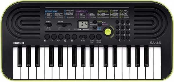 Casio SA 46 (grün) Mini Keyboard
