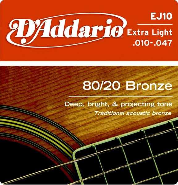 D Addario EJ 10 010-047 Bronze 80/20 Satz