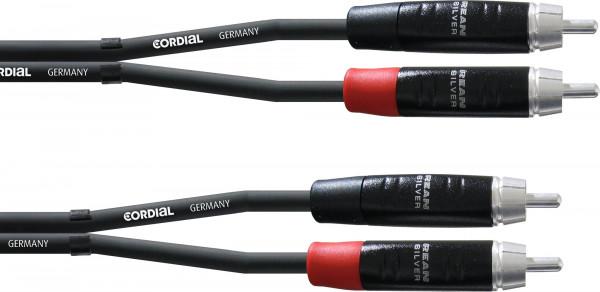 Cordial CIU 6 CC Cinch Stereo Kabel 6m