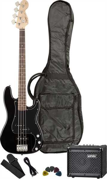 Fender Squier Affinity P-Bass PJ Black Starterset