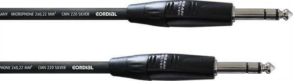 Cordial CIM 0,6 VV sym. Linekabel 0,6m Klinke-Klinke s