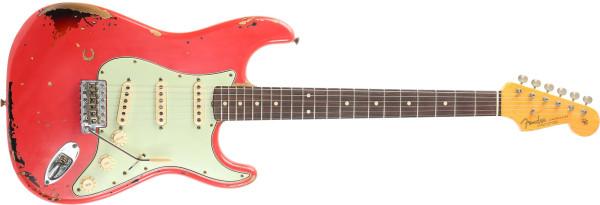 Fender Custom Shop Michael Landau Signature 1963 Relic Strat Fiesta Red over 3-Color Sunburst