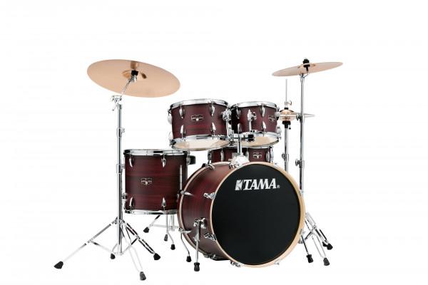 Tama Imperialstar Drumset Studio Burgundy Walnut Wrap