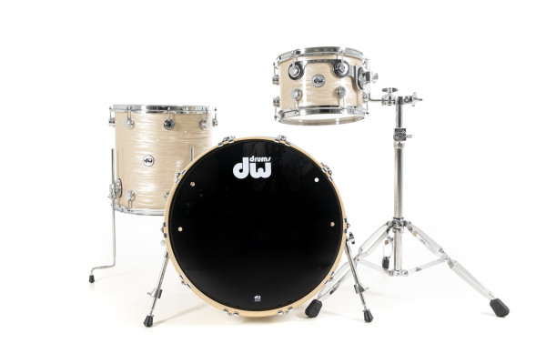 DW Collector's Maple Finish Ply SSC 3 tlg. Shell Set Creme Oyster