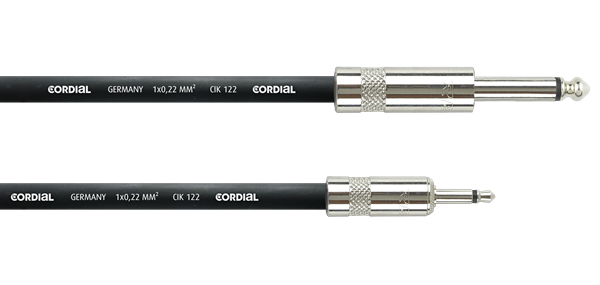 Cordial CPI 2 PZ 2m Klinke 3,5 mono / Klinke 6,3 mono