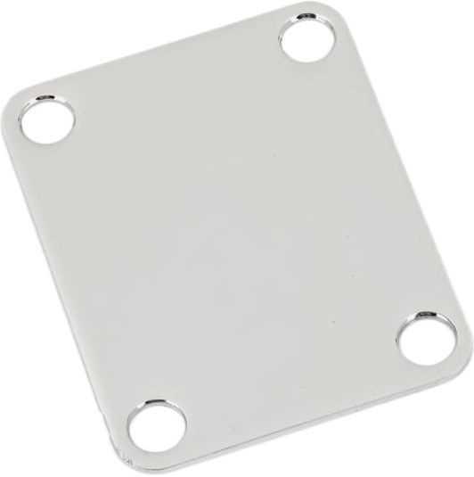 Fender Parts Neck Plate 4-Bolt Plain Chrome