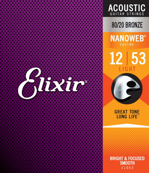 Elixir NanoWeb Bronze11052 Light 012-053