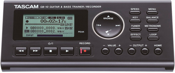 Tascam GB-10 Trainer/Recorder für Gitarre und Bass