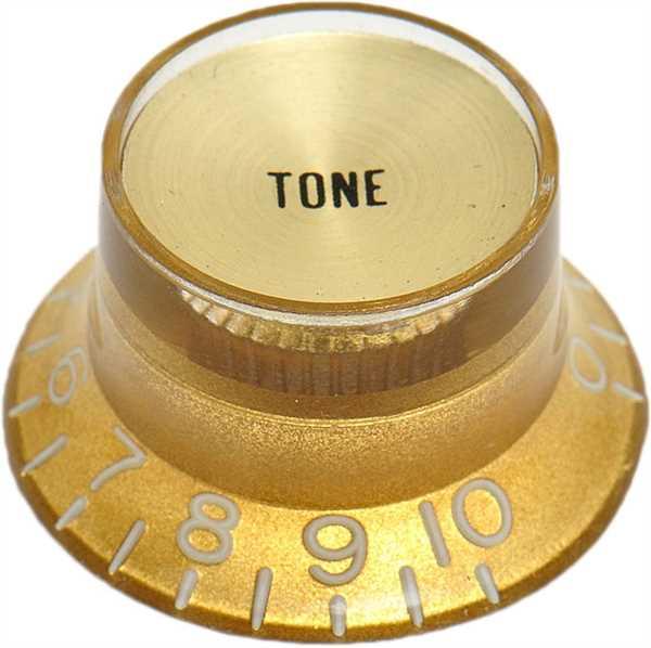 Göldo Potiknopf Bellnop gold Inlay Hut Tone USA