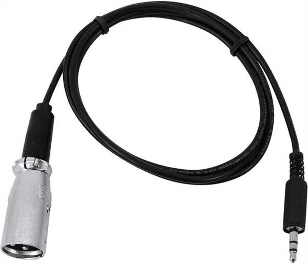 Eurolite DMX-Adapter IN Klinke 3,5/XLR 1m
