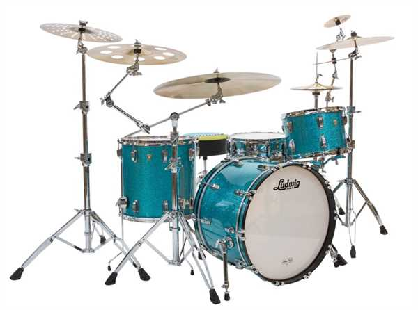 Ludwig Classic Maple Quick Pick 4-tlg. Shell Set Teal Sparkle B-Ware