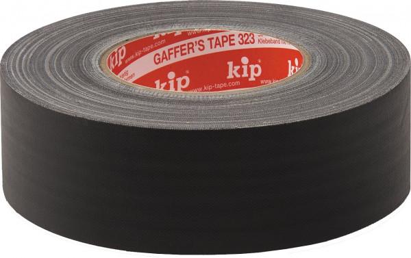 kip Gaffer Tape 323 schwatz matt 50mm