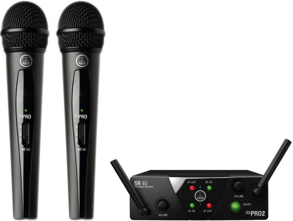 AKG WMS 40 mini dual Vocal Set ISM