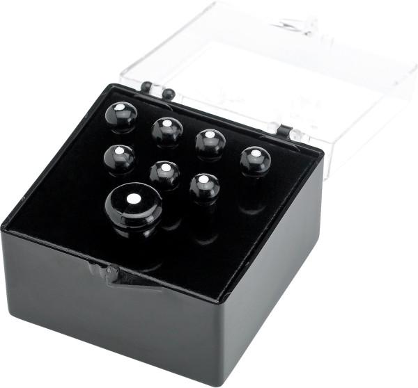 Fender Bridge Pin Set Black with White Dot