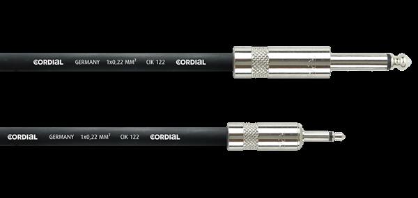 Cordial CPI 1 PZ 1m Klinke 3,5 mono / Klinke 6,3 mono