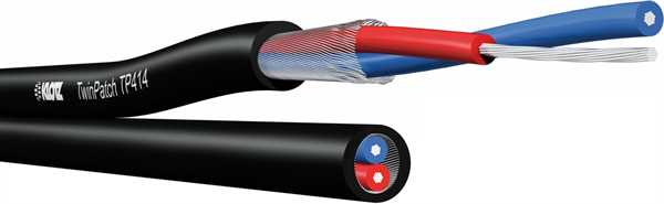 Klotz TP 414 Twin-Patch 2xsym.PVC matt/sw -m-