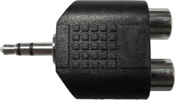 CAE A 2x Cinchkupplung Miniklinke Stereo