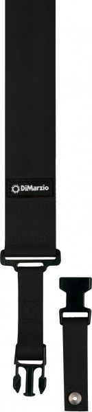 DiMarzio Gitarrengurt DD 2200 Clip Lock Schmal Black
