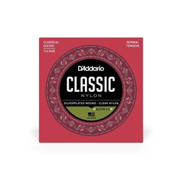 D Addario EJ 27 Classic Nylon 1/2 Guitar