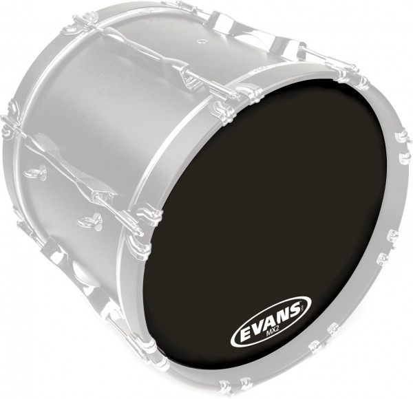 Evans BD26MX2B Marching Bass Drum Head Black 26