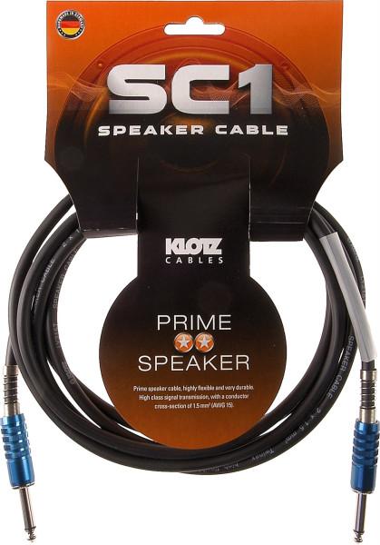 Klotz SC1 PP01SW 1m Speakerkabel Klinke-Klinke