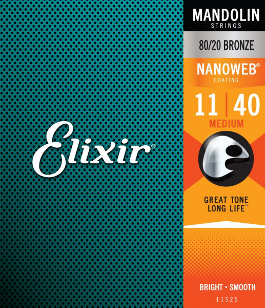 Elixir NanoWeb 11525 Mandoline 8-String Medium 011-040