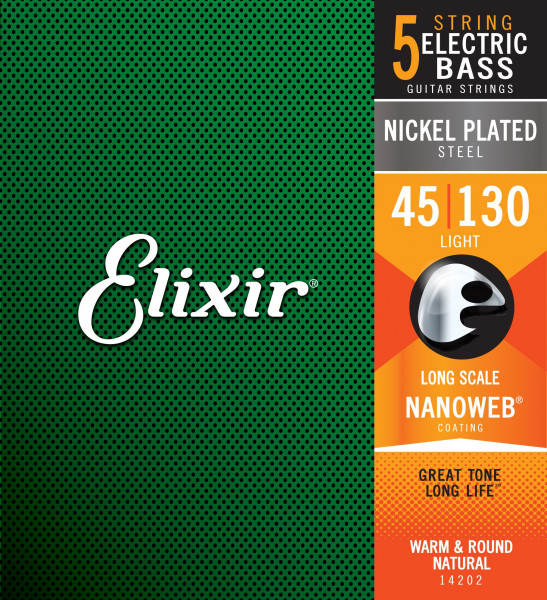 Elixir NanoWeb 14202 Light 5-String 045-130 E-Bass Saiten