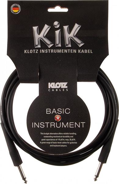 Klotz KIK Instrumentenkabel 4,5m schwarz