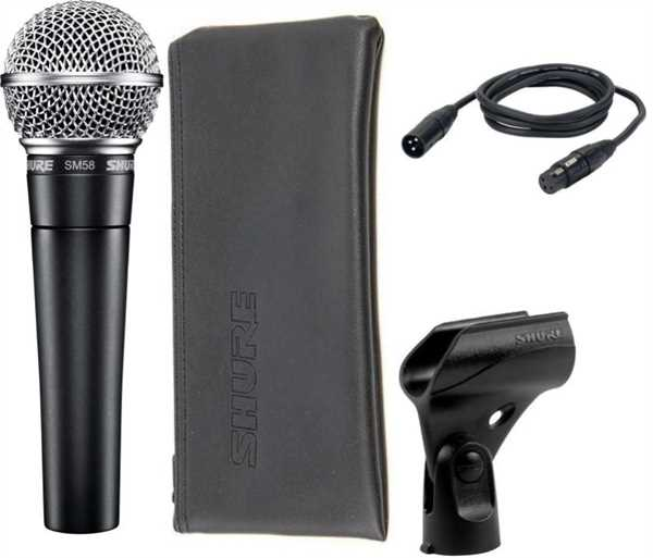 Shure SM58 Bundle mit Kabel