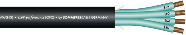 Sommer Cable Elephant Speakerkabel 4x2,5mm schw.-m-